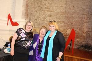 Chrfista Ludlow (raffle winner), Kerry Greenwood & LJM Owen