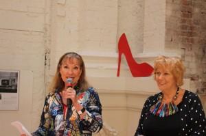 Susanna Lobez & Robin Bowlesa launching Gangland Murders