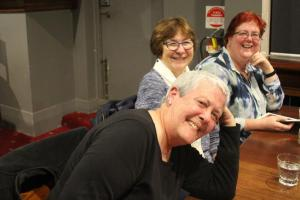 Eril Riley, Lesley Gillis & friend