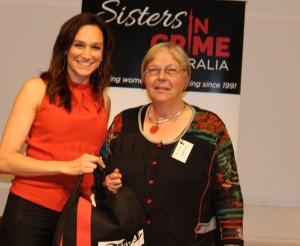 Nicole da Silva & raffle winner Liz Flann 2