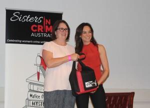 Raffle winner Liz Hutchison & Nicole da Silva